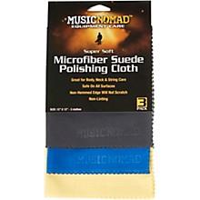Music Nomad Super Soft Microfiber Suede Polishing Cloth - 3 Pack