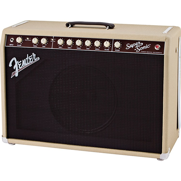 Fender Super-Sonic 60 60W 1x12 Tube Guitar Combo Amp Blonde
