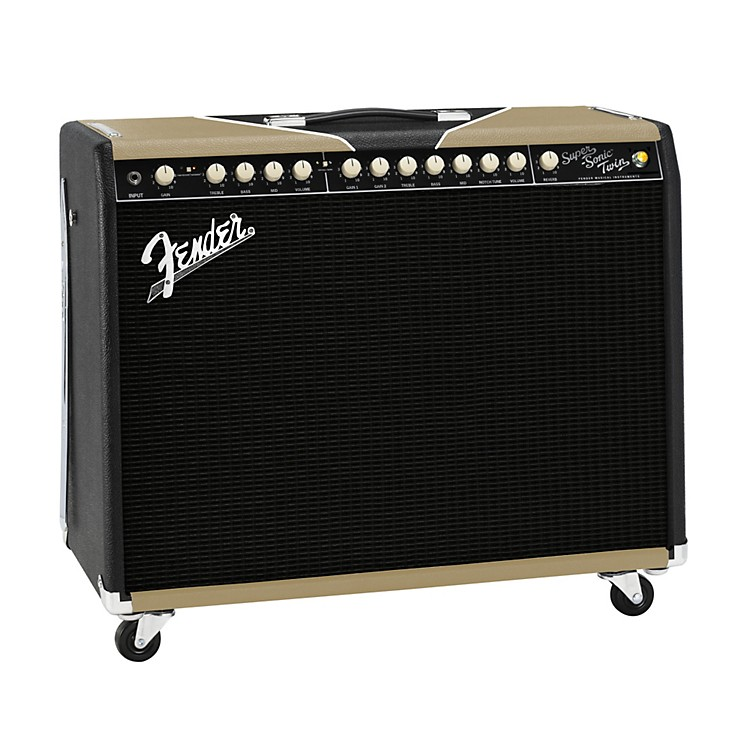 Fender Super-Sonic Twin Black/Gold 100W 2x12 Tube Guitar Combo Amp