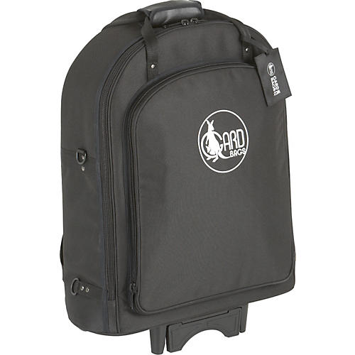 Gard Super Triple Trumpet Wheelie Bag 14-WBFLK Black Ultra Leather