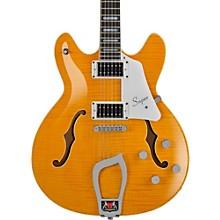 Hagstrom Super Viking Flame Maple Electric Guitar Dandy Dandelion