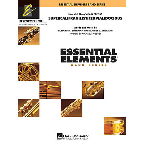 Hal Leonard Supercalifragilisticexpialidocious (from Mary Poppins) Concert Band Level .5 to 1 by Michael Sweeney-thumbnail