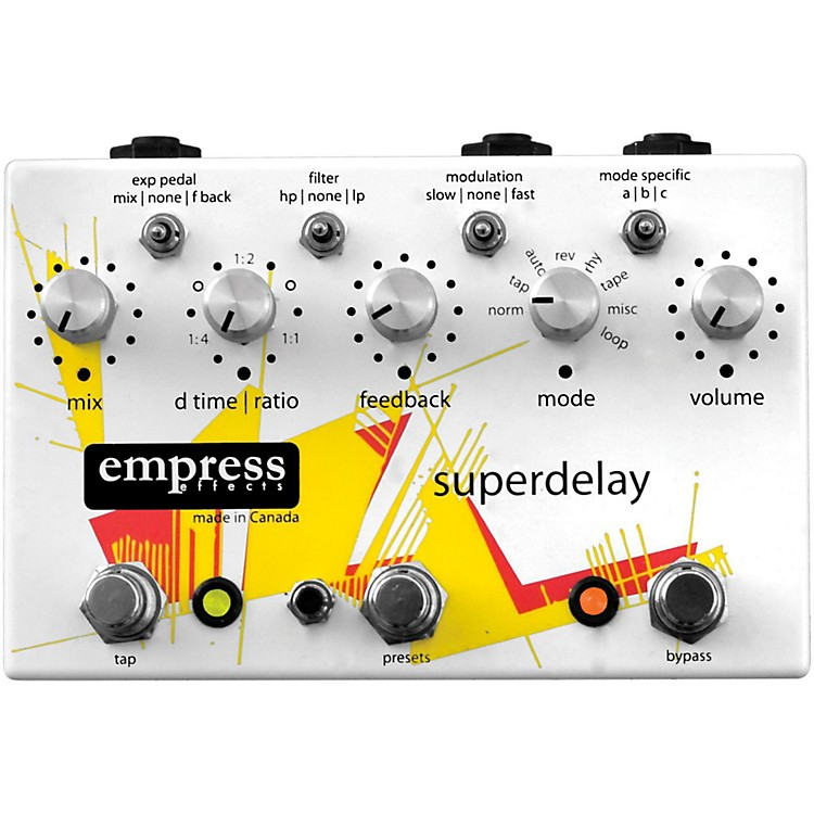 Empress Effects Superdelay Guitar Effects Pedal White