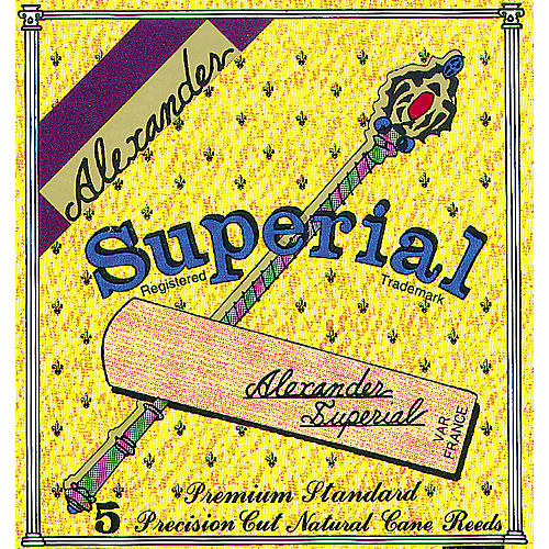 Alexander Reeds Superial Bb Clarinet Reed Strength 3 Box of 5
