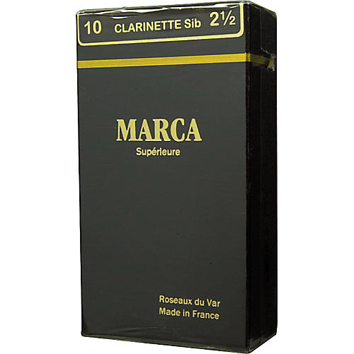 Marca Superieure Bb Clarinet Superieur Reeds Strength 2.5 Box of 10