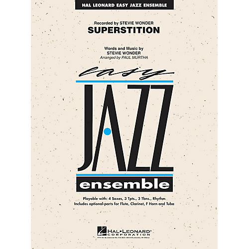 Hal Leonard Superstition Jazz Band Level 2 Arranged by Paul Murtha-thumbnail