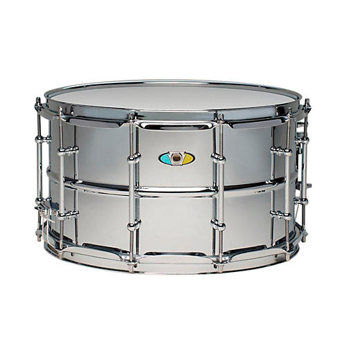 Ludwig Supralite Steel Snare Drum 14x8 Inch