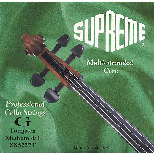 Super Sensitive Supreme Cello Strings G, Medium 4/4 Size