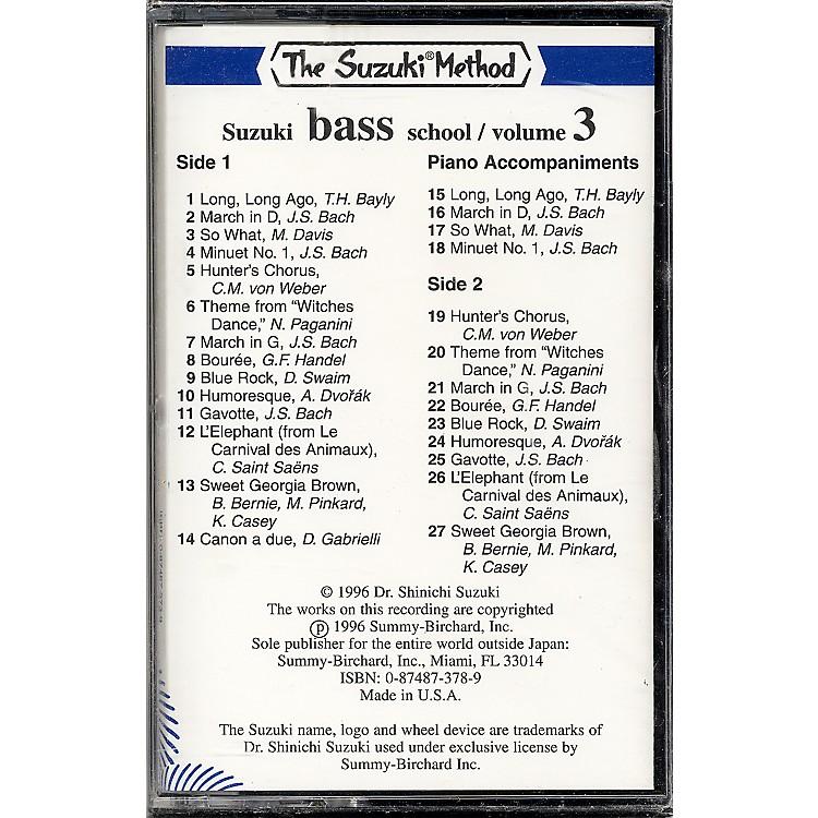 AlfredSuzuki Bass School Cassette Volume 3