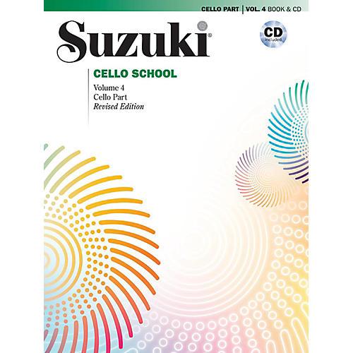 Suzuki Suzuki Cello School Book & CD Volume 4 (Revised)-thumbnail