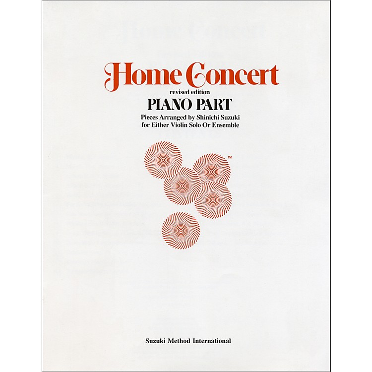 Alfred Suzuki Home Concert Piano Part (Revised)