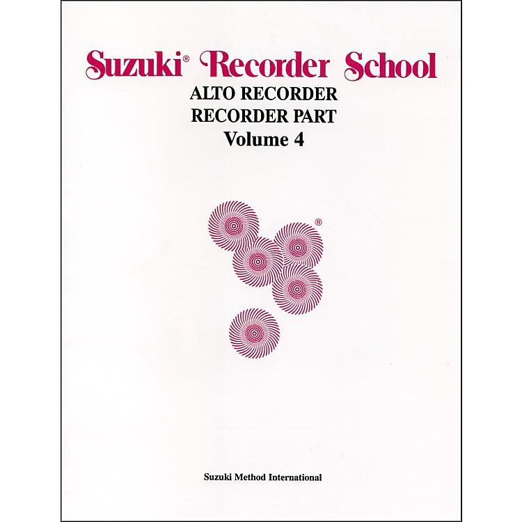 AlfredSuzuki Recorder School (Alto Recorder) Recorder Part Volume 4