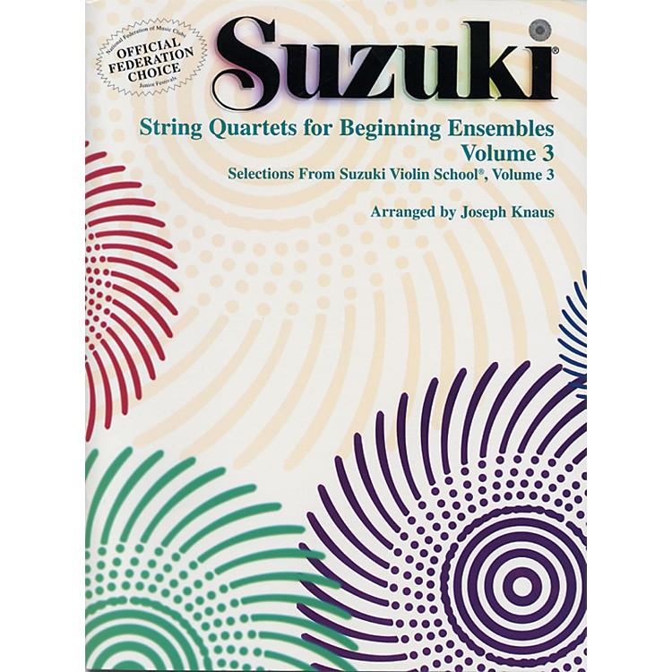 AlfredSuzuki String Quartets for Beginning Ensembles Volume 3 (Book)