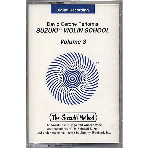 Alfred Suzuki Violin School Cassette Volume 3