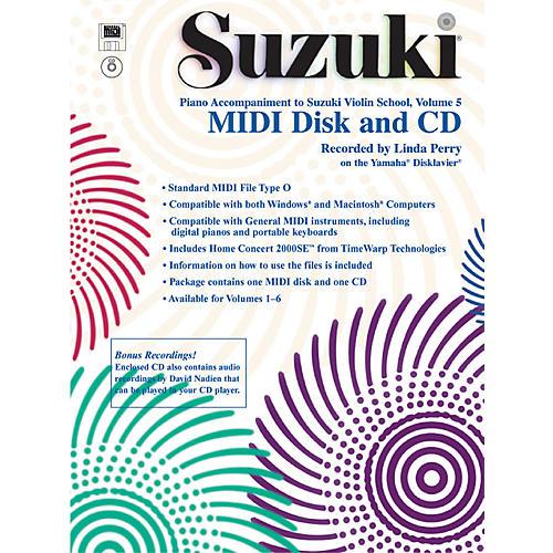 Alfred Suzuki Violin School MIDI Disk Acc./CD-ROM, Volume 5-thumbnail
