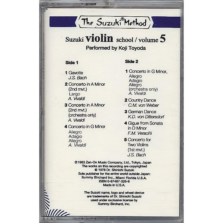 AlfredSuzuki Violin School Volume 5 (Cassette)