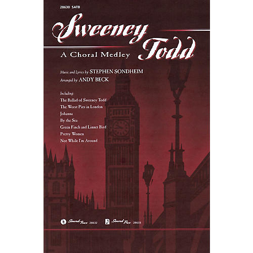Hal Leonard Sweeney Todd: A Choral Medley SATB arranged by Andy Beck-thumbnail