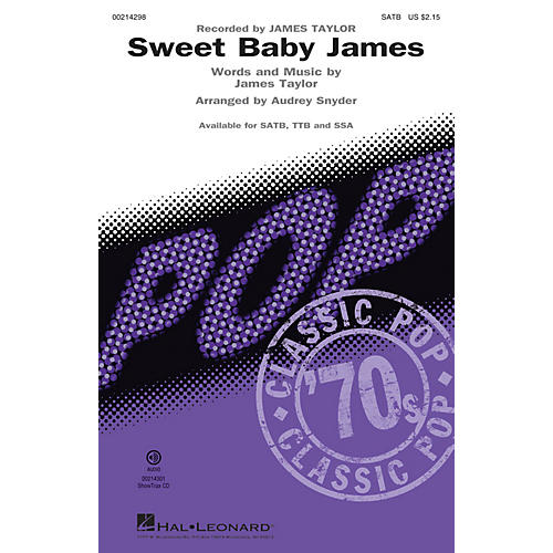Hal Leonard Sweet Baby James SATB by James Taylor arranged by Audrey Snyder