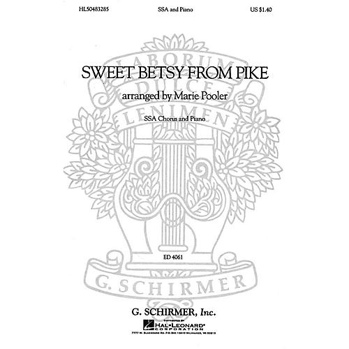 G. Schirmer Sweet Betsy from Pike (SSA and Piano) SSA composed by American Folksong-thumbnail