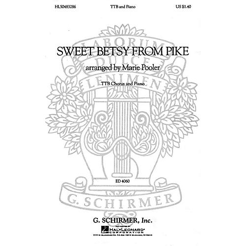 G. Schirmer Sweet Betsy from Pike (TTB and Piano) TTB composed by American Folksong-thumbnail