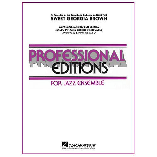 Hal Leonard Sweet Georgia Brown Jazz Band Level 5 by Count Basie Arranged by Sammy Nestico-thumbnail