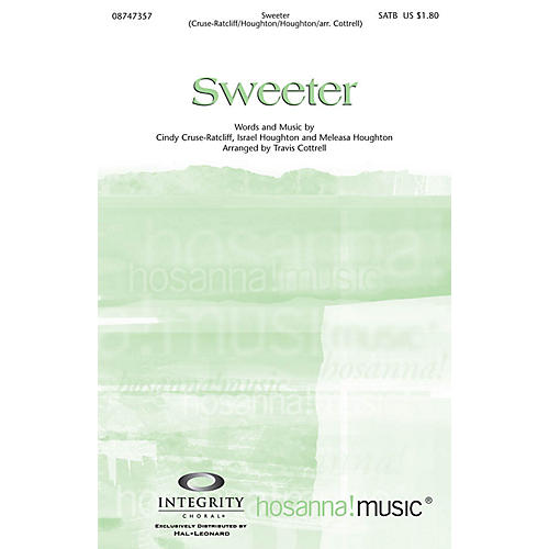 Integrity Music Sweeter Split/Stereo Trax Arranged by Travis Cottrell-thumbnail