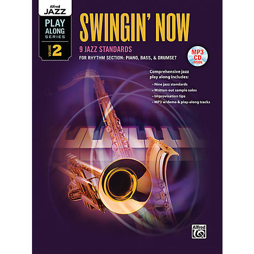 Alfred Swingin' Now Rhythm Section Book & CD-thumbnail
