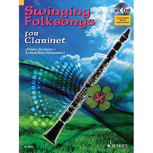 Hal Leonard Swinging Folksongs Play-along For Clarinet Bk/CD With Piano Parts To Print Woodwind Solo Series-thumbnail