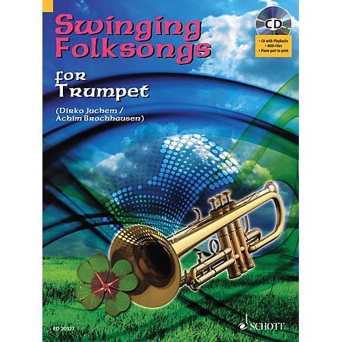 Hal Leonard Swinging Folksongs Play-along For Trumpet Bk/cd With Piano Parts To Print Brass Solo Series-thumbnail