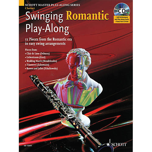 Schott Swinging Romantic Play-Along Instrumental Folio Series BK/CD-thumbnail