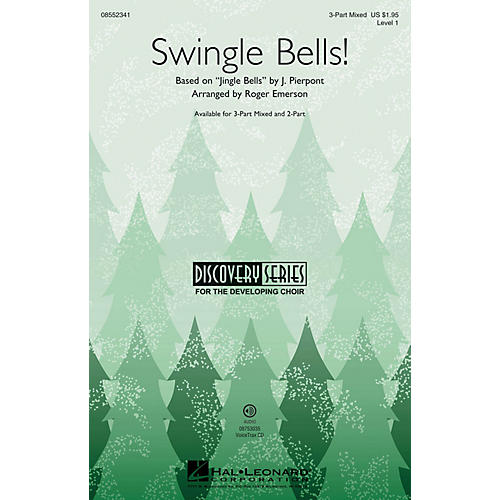 Hal Leonard Swingle Bells! (Discovery Level 1) 3-Part Mixed arranged by Roger Emerson-thumbnail