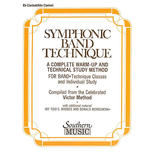 Southern Symphonic Band Technique (S.B.T.) (Alto Clarinet) Southern Music Series Arranged by John Victor-thumbnail