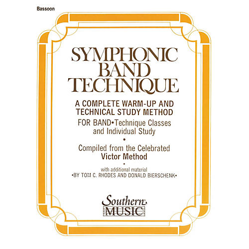 Southern Symphonic Band Technique (S.B.T.) (Bassoon) Southern Music Series Arranged by John Victor-thumbnail