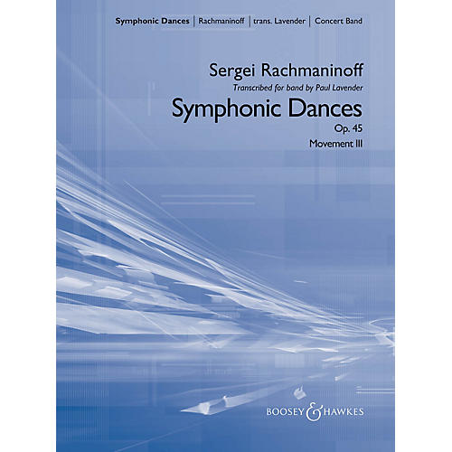 Boosey and Hawkes Symphonic Dances, Op. 45 Concert Band Level 5 Composed by Sergei Rachmaninoff Arranged by Paul Lavender-thumbnail