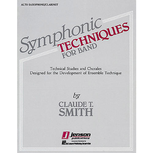 Hal Leonard Symphonic Techniques for Band (Eb Alto Sax & Eb Alto Clarinet) Concert Band Level 2-3 by Claude T. Smith-thumbnail
