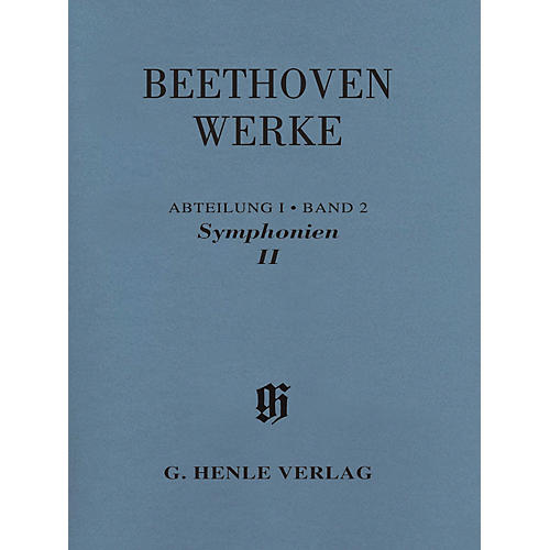 G. Henle Verlag Symphonies II Henle Edition Softcover by Beethoven Edited by Bathia Churgin-thumbnail