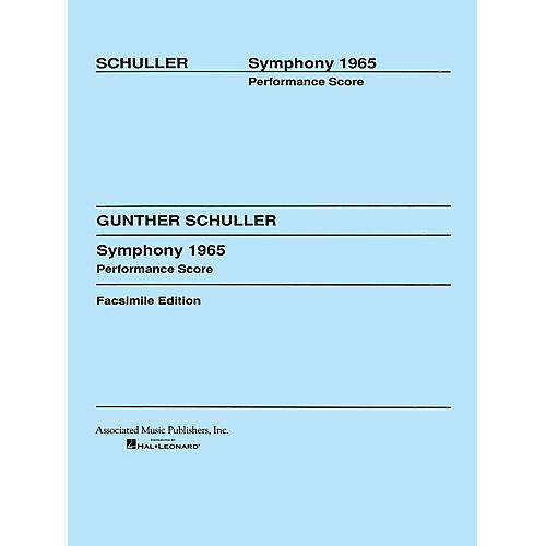 Associated Symphony (1965) (Full Score) Study Score Series Composed by Gunther Schuller-thumbnail