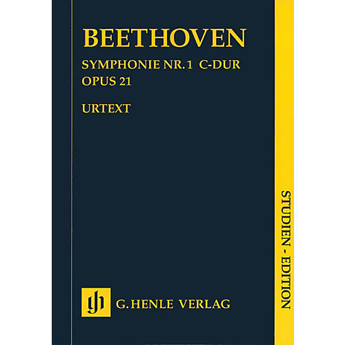 G. Henle Verlag Symphony C Major Op. 21, No. 1 (Study Score) Henle Study Scores Series Softcover by Ludwig van Beethoven