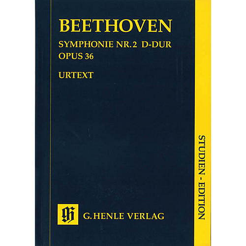 G. Henle Verlag Symphony D Major Op. 36, No. 2 (Study Score) Henle Study Scores Series Softcover by Ludwig van Beethoven-thumbnail
