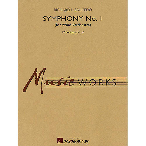 Hal Leonard Symphony No. 1 - Movement 2 (for Wind Orchestra) Concert Band Level 5 Composed by Richard L. Saucedo-thumbnail