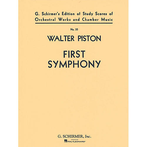 Associated Symphony No. 1 (Full Score) Study Score Series Composed by Walter Piston