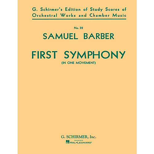 G. Schirmer Symphony No. 1, Op. 9 (Study Score) Study Score Series Composed by Samuel Barber-thumbnail