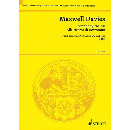 Schott Symphony No. 10 'Alla ricerca di Borromini' Study Score Series Softcover Composed by Peter Maxwell Davies-thumbnail