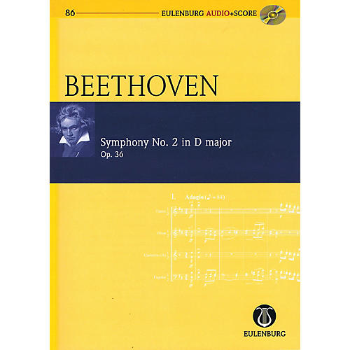 Eulenburg Symphony No. 2 in D Major, Op. 36 Eulenberg Audio plus Score w/ CD by Beethoven Edited by Richard Clarke