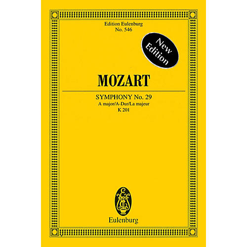 Eulenburg Symphony No. 29 In A Major, K201 Schott Composed