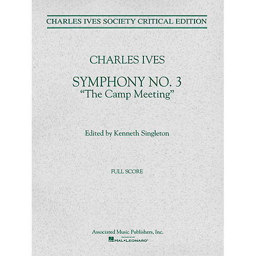 Associated Symphony No. 3 (Full Score) Study Score Series Composed by Charles Ives Edited by Kenneth Singleton-thumbnail