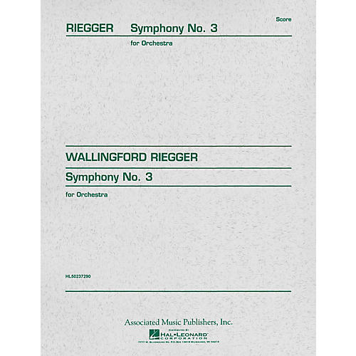 Associated Symphony No. 3, Op. 42 (Study Score) Study Score Series Composed by Wallingford Riegger-thumbnail