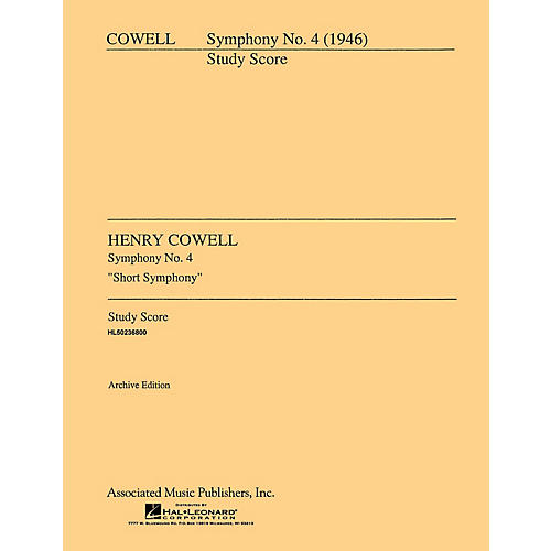 Associated Symphony No. 4 (1946) (Full Score) Study Score Series Composed by Henry Cowell-thumbnail
