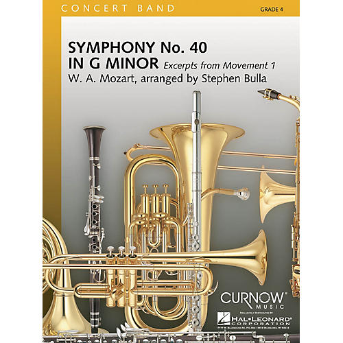 Curnow Music Symphony No. 40 - Mmt. I Excerpts (Grade 4 - Score Only) Concert Band Level 4 Arranged by Stephen Bulla-thumbnail