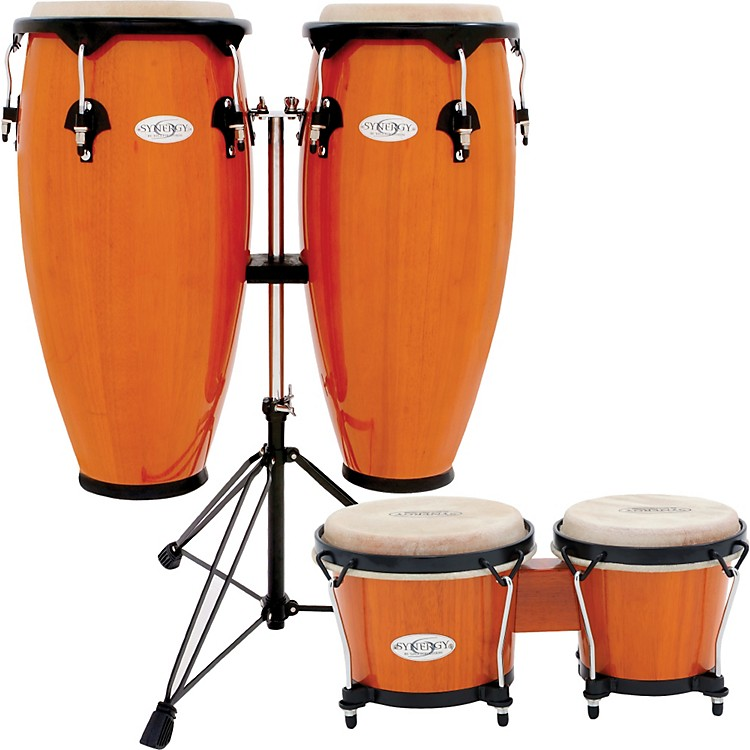 Toca Synergy Conga Set with Stand and Bongos Amber